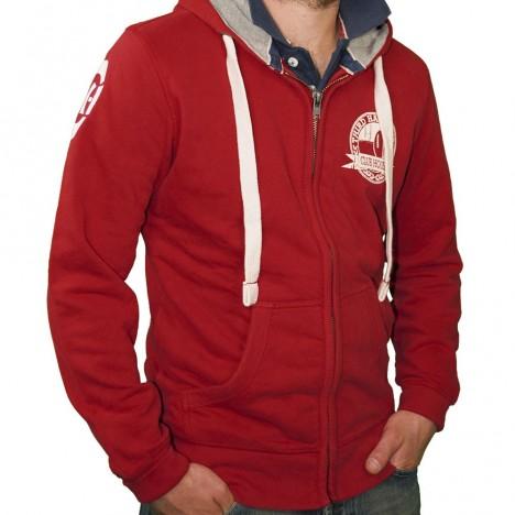 veste rugby vintage rouge