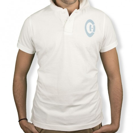 Polo rugby white and blue