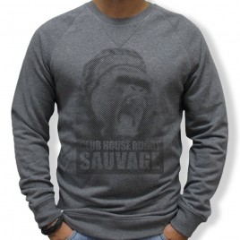 Sweat Rugby SAUVAGE GORILLE homme