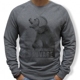 Sweat Rugby SAUVAGE OURS homme