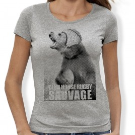 Tshirt Rugby Sauvage Ours F