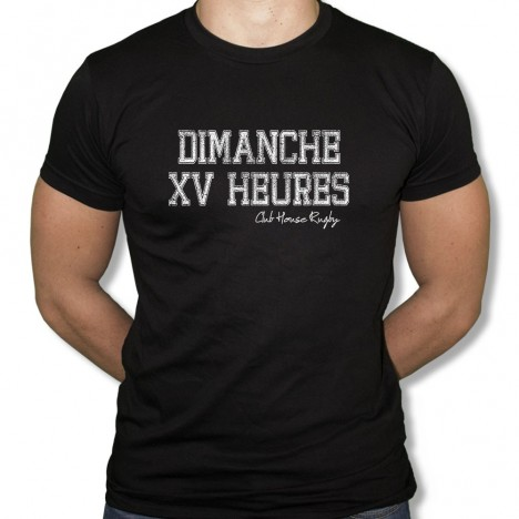 Tshirt Rugby Dimanche XV heures