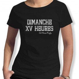 Tshirt Rugby Dimanche XV heures F