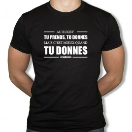 Tshirt Rugby TU PRENDS TU DONNES homme