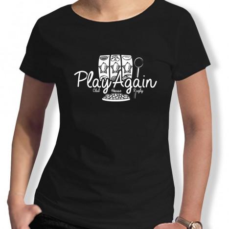 Tshirt Rugby JACKPOT PLAYAGAIN femme