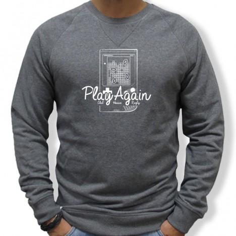 Sweat Rugby BRIQUE PLAYAGAIN homme