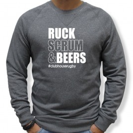 Sweat Rugby RUCK SCRUM AND BEERS homme