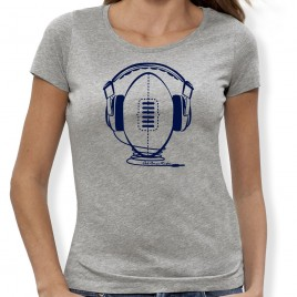 Tshirt Rugby MUSIC femme