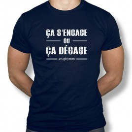 Tshirt Rugby CA S'ENGAGE OU ÇA DÉGAGE homme