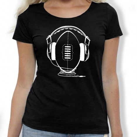 Tshirt Rugby Music F