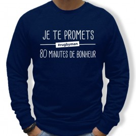 Sweat Rugby 80 MINUTES homme