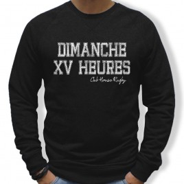 Sweat Rugby Dimanche XV heures