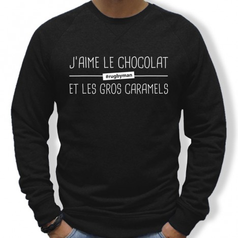 Sweat Rugby J'aime le chocolat
