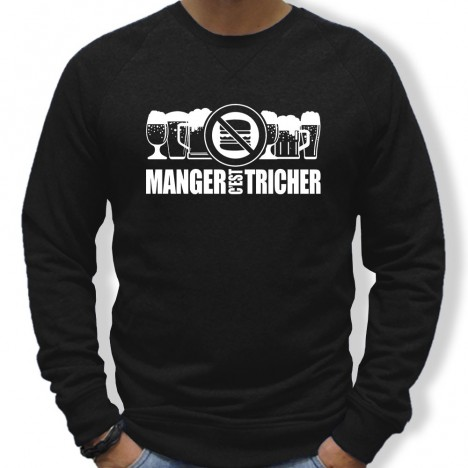 Sweat Rugby Manger c'est tricher