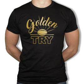 Tshirt Rugby GOLDEN TRY homme