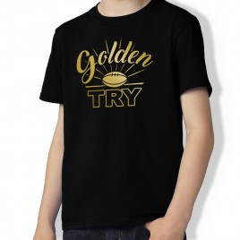 Tshirt Rugby GOLDEN TRY enfant