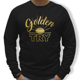 Sweat Rugby GOLDEN TRY homme