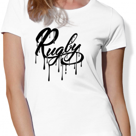 Tshirt Rugby PAINT femme