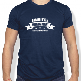 Tshirt Rugby FAMILLE DE RUGBYMAN homme