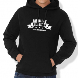 Sweat Capuche Rugby FAMILLE DE RUGBYMAN homme