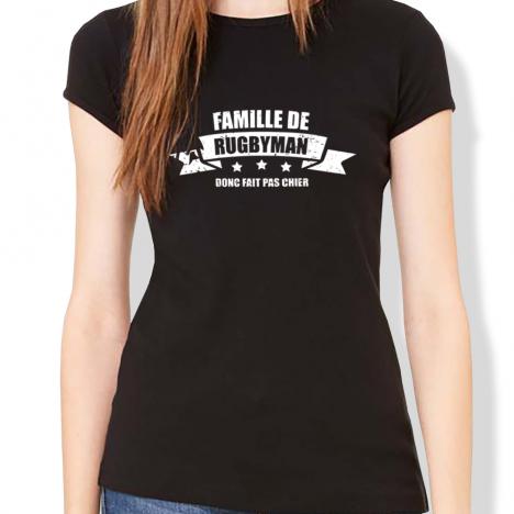 Tshirt Rugby Famille de rugbyman F