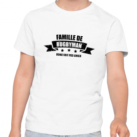 Tshirt Rugby FAMILLE Enfant