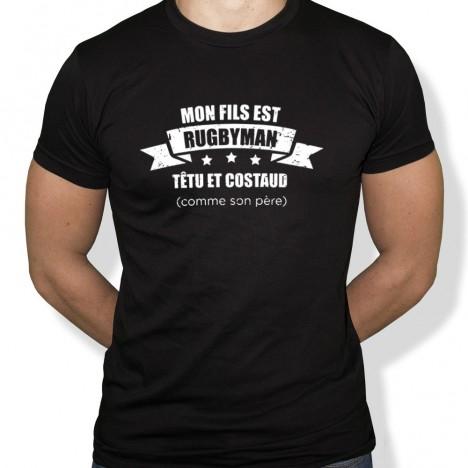 Tshirt Rugby Père de rugbyman