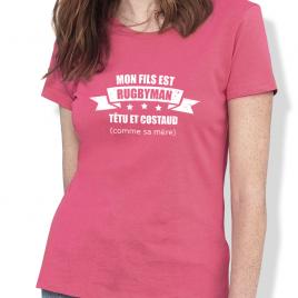Tshirt Rugby MÈRE DE RUGBYMAN femme