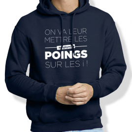 Sweat Capuche rugby LES POINGS