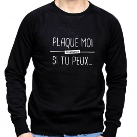 Sweat Rugby PLAQUE MOI homme