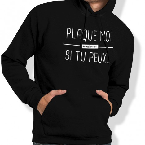 Sweat Capuche Rugby PLAQUE MOI homme