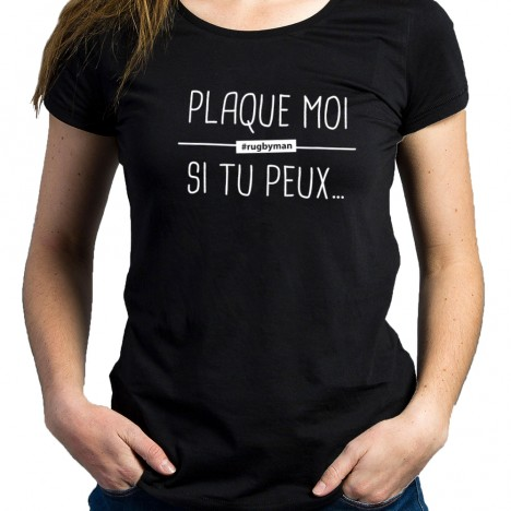 Tshirt Rugby PLAQUE MOI femme