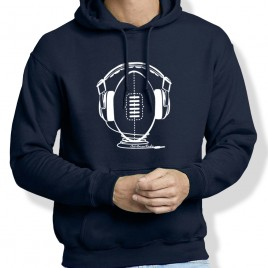 Sweat Capuche Rugby MUSIC homme