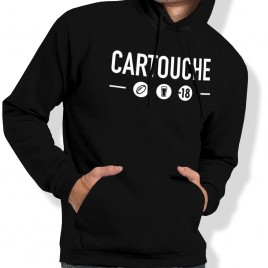 Sweat Capuche Rugby Cartouche