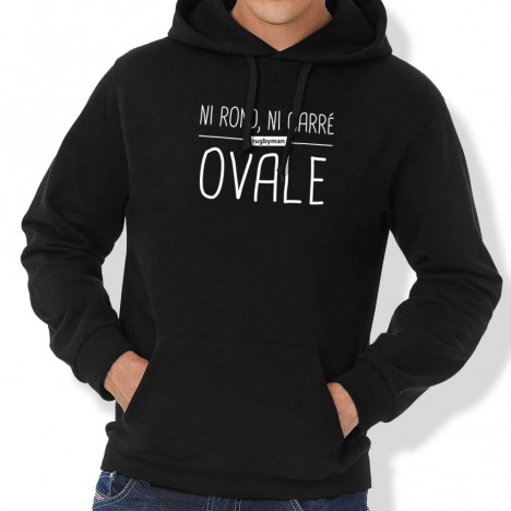 Sweat Capuche Rugby Ovale