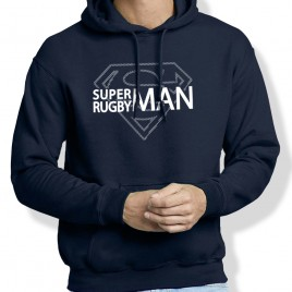 Sweat Capuche Rugby SUPERMAN homme