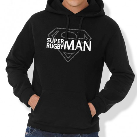 Sweat Capuche Rugby Superman