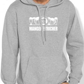 Sweat Capuche Rugby MANGER C'EST TRICHER homme