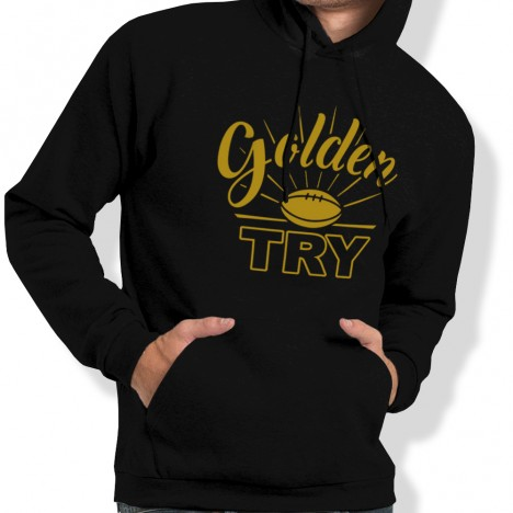Sweat Capuche Rugby GOLDEN TRY homme