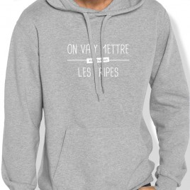 Sweat Capuche On va y mettre les tripes H