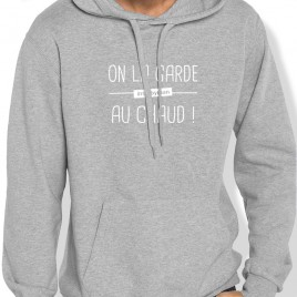 Sweat Capuche Rugby ON LA GARDE AU CHAUD homme