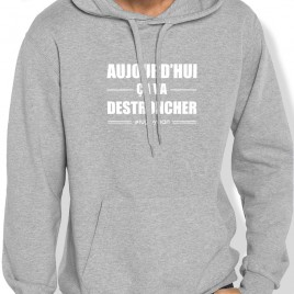 Sweat Capuche Rugby CA VA DESTRONCHER homme