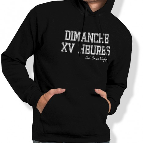Sweat Capuche Rugby Dimanche XV heures