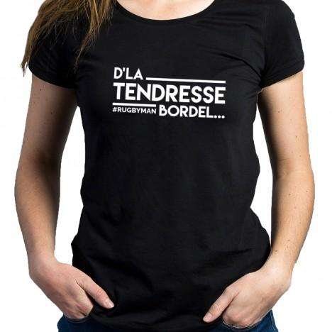 Tshirt Rugby D'LA TENDRESSE BORDEL femme