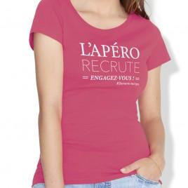 Tshirt Rugby L'APERO femme