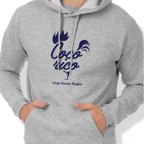 Sweat Capuche Rugby COQ'ORICO homme