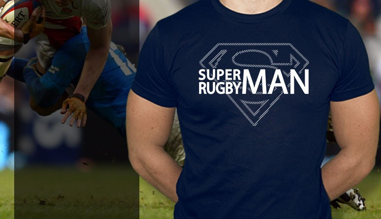 Tee-shirt rugby Superman