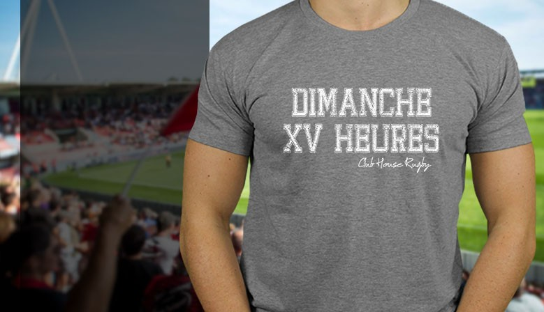 Tee-Shirt Rugby Dimanche 15h