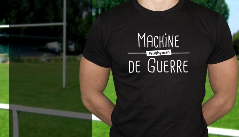 Tee-shirt rugby machine de guerre club house