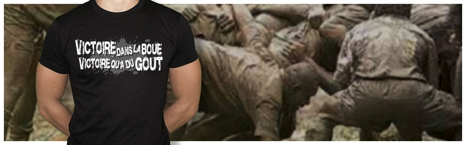 tee-shirt rugby dans la boue